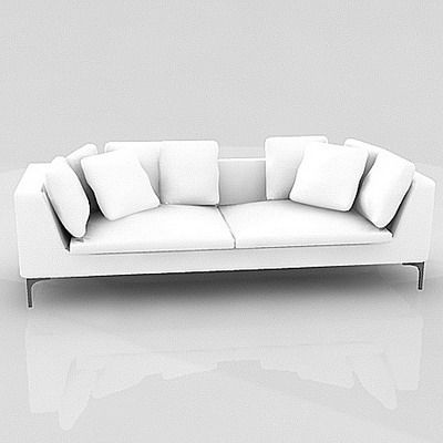 B B Italia Charles Sofa 3d model sofa with pillows b b italia charles large2