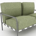 sofa 3d model of minimalism B&B Italia  Freetime F T67 1