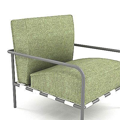 3d model armchair of minimalism b b italia freetime f t67 2