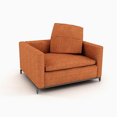 3d model armchair of minimalism b b italia george g105bs. Black Bedroom Furniture Sets. Home Design Ideas
