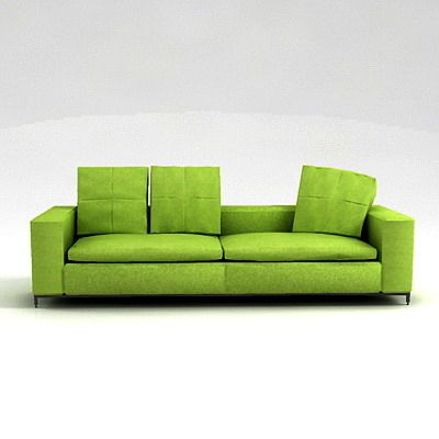 green sofa 3d object b b italia george g243bl. Black Bedroom Furniture Sets. Home Design Ideas