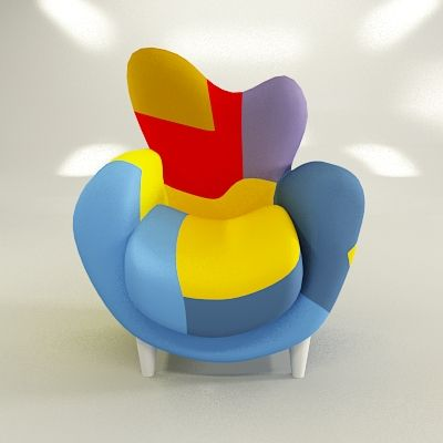 Armchair in the style of pop art cad 3d model symbol los - Muebles pop art ...