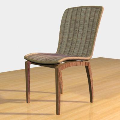 wooden chair france cad symbol 3d model ligne roset libra 1. Black Bedroom Furniture Sets. Home Design Ideas