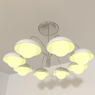 Italian chandelier 3D model Lussole cl 29