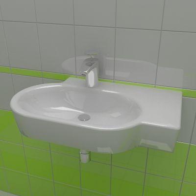 Sink 3d-model Ideal Standard Tonic guest 36x61