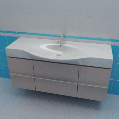 Sink cabinet 3d-model Laufen Palace 120x37x46 O