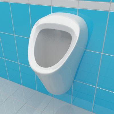 urinal 3d model vitra arkitekt 30x30. Black Bedroom Furniture Sets. Home Design Ideas