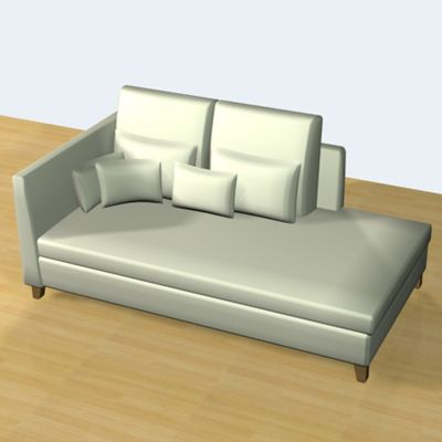 3D - model minimalist white sofa with pillows 3D object Flexform Victor Large 4