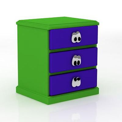 green bedside table 2