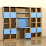 Cia International bookcase 3D - model