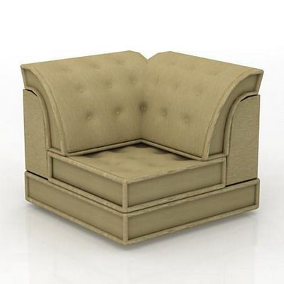 French sofa 3d model roche bobois mah jong 01 - Roche bobois mah jong sofa ...