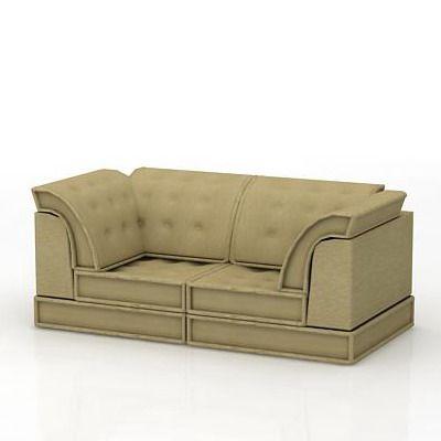French sofa 3d model roche bobois mah jong 07 - Roche bobois mah jong sofa ...