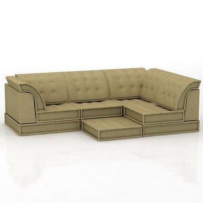 France sofa quality 3d model roche bobois mah jong 09 - Roche bobois mah jong sofa ...