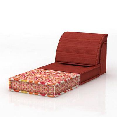France red sofa 3d model roche bobois mah jong 10 for Chaise longue roche bobois