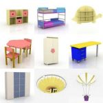 3D - model Kids furniture 2 (70 objects)