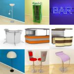 3D - model Furniture for bar (70 objects)