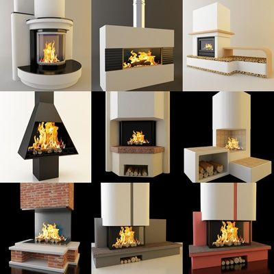 3D - model Fireplaces 2 (70 objects)