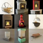 3D - model Fireplaces 3 (70 objects)