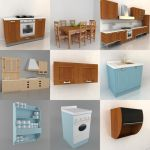 3D - model Kitchen Italy 1 (70 objects)