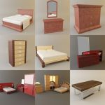 3D - model Bedrooms 2 (50 objects)