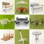 3D - model Garden Furniture 1 (50 objects)