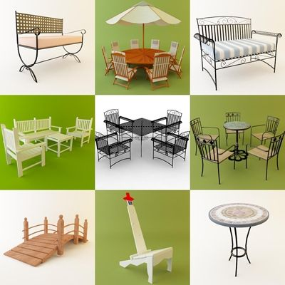 3d model garden furniture 1 50 objects