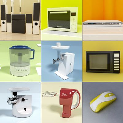 3D - model Household Devices 1 (70 objects)