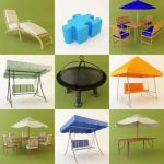 3D - model Garden Furniture 2 (50 objects)