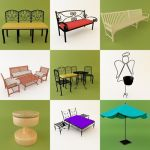 3D - model Garden Furniture 3 (50 objects)