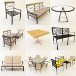 3D - model Garden Furniture 4 (50 objects)