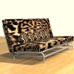 3D - model sofa with pillows 3DS sofa14