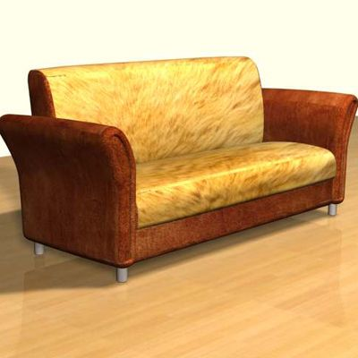 3D - model brown sofa in the Art Nouveau style 3DS sofa15