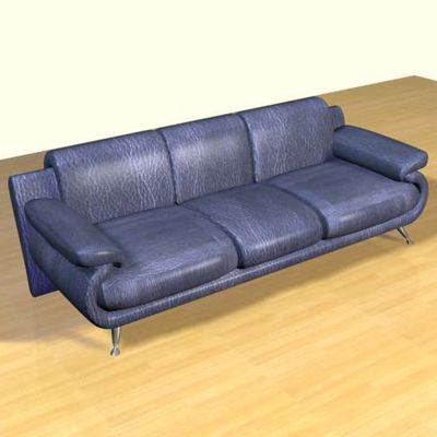 3D - model blue sofa Minimalism 3DS sofa36