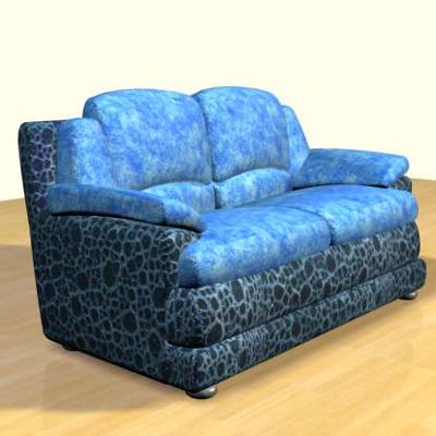 3D - model blue sofa in the Art Nouveau style 3D object sofa46