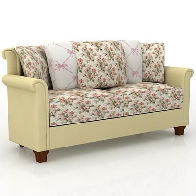 Merveilleux Country Style Sofa 3D Model Sofa 35